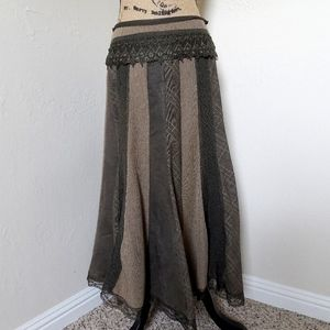 Nygård Collection Brown/Tan Maxi Skirt Size 6